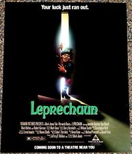 LEPRECHUAN 1992 ORIG. MINT GROUP OF 3 MINI MOVIE POSTERS! WARWICK DAVIS HORROR!
