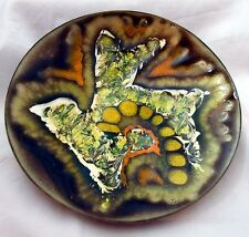 STUNNING Handmade Enameled Copper Dish by Keltic Arts & Crafts 14.6cm Diameter