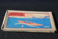 Jouets de France rare maquette ancienne CANOE bois longueur 28,5 cm