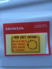 Genuine Honda Shift Decal Z50 ST70 Monkey Bike Dax C50 Cub 50 Chaly