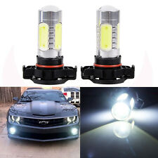 2 x White H16 High Power LED Projector Lens Fog Driving DRL Bulbs 5202 US Stock