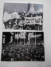 2 Real Photographs Of The Peace Celebrations In Israel 1979 - Ex camera Press