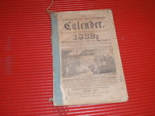 ANTIQUE  NEWSPAPER / BOOKLET   1833 CALANDER   GERMAN ? LANCASTER  PENN.