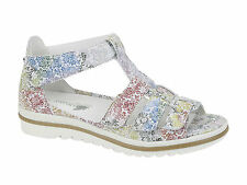 Waldlaufer new Size 8 H Wide Fit Ladies White Leather Orthodic Sandals