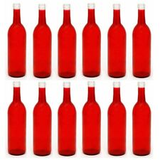 Empty Wine Bottles 750 ml - Bordeaux/Claret - Red - Case of 12 - Homebrew Gift