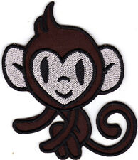 Aufnäher Bügelbild Iron on Patches Monkey Affe Äffchen braun (a2u2)