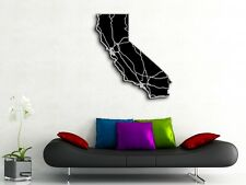 California Map Art - 33x36 in- CaliforniaState Art - Engraved State Map Highways