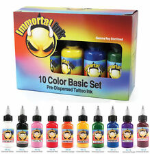 Kit De Tinta Tatuaje Profesional Inmortal - 10 X 1/2oz Botella Set