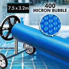 NEW Solar Swimming Pool Cover- 7.5x3.2 Outdoor 400 Bubble Roller Blanket Heater