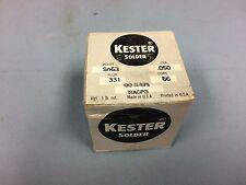 KESTER WIRE SOLDER .050 RA ROSIN SN63 CORE 66 FLUX 331 CORE 1 lb