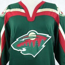 Minnesota Wild NHL Licensed CCM Sewn Logos Green Hockey Jersey Sz Adult Small