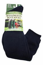 New Mens Boys Wellie Boot Knee High Over Calf Socks Warmers Size 7-12