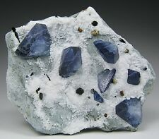 BENITOITE crystals on matrix * Dallas Gem Mine * San Benito Mine * California