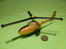TIN TOYS BLECH HELICOPTER - AMBULANCE - YELLOW - GOOD CONDITION - FRICTION