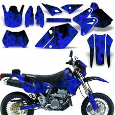 Decal Graphic Kit Suzuki DRZ400  SM E Dirt Bike Sticker w Backgrounds ICE BLUE