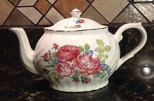 Arthur Wood & Son Staffordshire Englan Teapot, Pink Roses