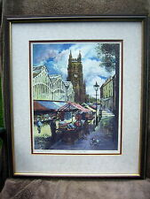 Signed limited edition print Stockport Market Michael Peel  North West NW artist