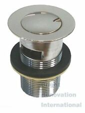 New Brass Pop Up Waste Round Vanity Basin Plug 32mm With Overflow