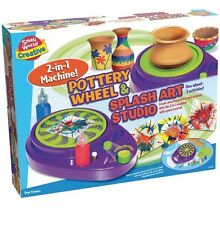 NEW Small World Creative Pottery Wheel And Splash Spin Art Studio Paint Spinner