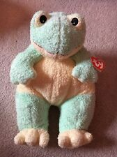 "with HANG TAG 12"" green 1999 frogbaby FROG BABY RATTLE TY STUFFED PLUSH"