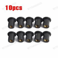 M5 10PCS Windscreen Fairing Rubber Well Nuts For Yamaha-R1,R6,RoadStar