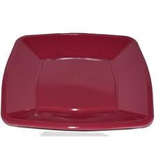 """30 X Rosso Vino Quadrato in Plastica Monouso Piastre laterali 7""""/18cm - Party Supplies"""