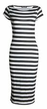 WOMENS CAP SLEEVE POLKA DOT BODYCON STRETCH JERSEY MIDI DRESS PLUS SIZE 8-22