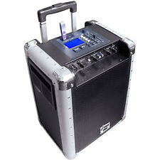 NEW Pyle PCMX265B Battery Powered Portable PA System With USB/SD,DJ Control, AUX