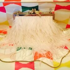 Kate Spade Ltd Ed Baby Pink Feather Clutch Ellianna Wedding Belles SOLD OUT