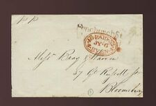 GB 1832 FENCHURCH STREET PP in BROWN + PAID EVENING OVAL LOCAL PENNY POST