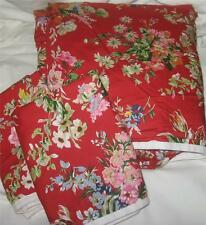 Ralph Lauren BELLE HARBOR FLORAL RED Twin Duvet Cover & Sham Set New COTTON