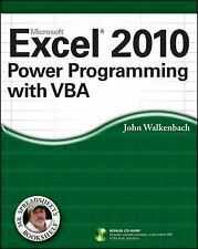 NEW! Excel 2010 Power Programming With VBA w/ CD-ROM (Mr. Spreadsheet Bookshelf)