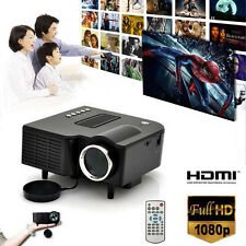 HD 1080P LCD LED Multimedia Mini Projector  Cinema  Home Theater VGA HDMI USB SD