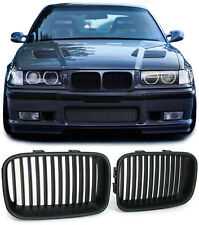 BLACK BONNET GRILLS FOR BMW E36 FACELIFT SALOON COMPACT COUPE & CONVERTIBLE