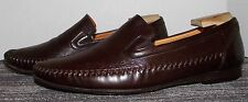 L@@K   EXCEPTIONAL MEZLAN BURGUNDY LEATHER LOAFERS SIZE 11 M! NO RESERVE!