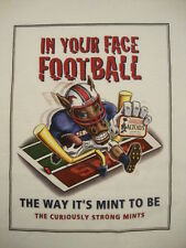 Altoids Mints In Your Face Football The Way It's SMU Mustangs RARE T Shirt XL