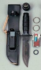 Black Camping Hunting Survival Knife Kit 3230 Rothco