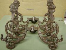 CAST IRON HALL TREE TORCH HOOKS - 2-