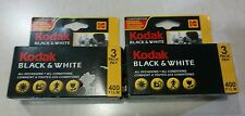 Lot of 2 Kodak Black & White 400 Film 3 packs 72 exp. Expired 03/2005 & 09/2005