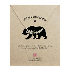 Dogeared Sterling Silver California Script Love Is A State Of Mind Box Necklace