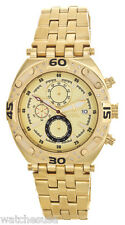 Aqua Master Men's Gold Stainless Steel Chronograph Diamond Watch W#351