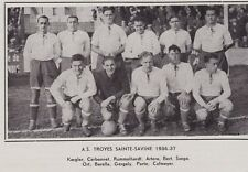 1961  --  FOOTBALL  AS TROYES   SAINTE SAVINE  1936-1937   3F564