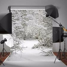 Photo Snow Christmas Theme Background Photography Backdrop Studio Props 5x7ft