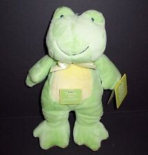 "11"" NEW Carters Just One Year Frog Baby Plush Green Stuffed Animal Lovey 92050"