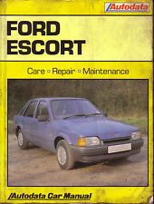 Ford Escort  Autodata Manual 1980-90 not Haynes