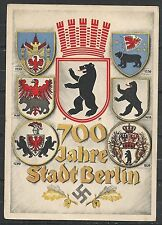 Reich covers 1937 special PPC 700 Jahre Stadt Berlin not sent