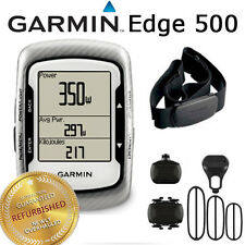 Garmin Edge 500 GPS Computer Device Road Bike + Mount + HRM + Speed + Cadence
