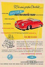 1954 Distler Electro Martic 7500 Porsche Wenz ca. 14x20 cm original Printwerbung