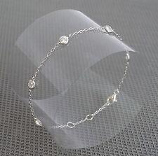 Bracelet chaîne argent 925 Rhodié Multi zirconiums sertis clos