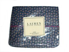 RALPH LAUREN STUDIO COLLECTION DARK FOULARD NAVY BLUE PAISLEY TWIN SHEETS